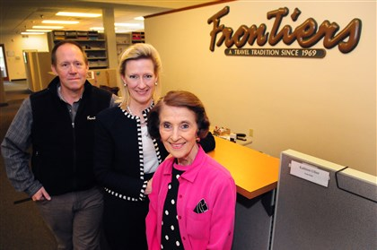 Fitzgeralds of Frontiers Travel Mike, Mollie and Susie Fitzgerald of Frontiers Travel have developed a niche clientele for their Gibsonia travel agency.