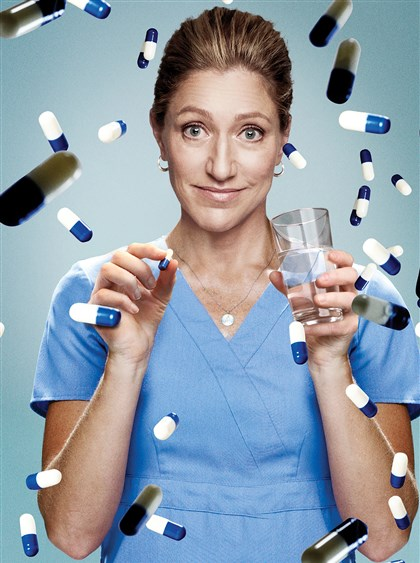 "20140411HONurseJackie Edie Falco as Nurse Jackie Peyton in ""Nurse Jackie,"" season 6."