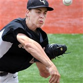 Tyler Garbee, a University of Akron recruit, returns as the ace of the Quaker Valley pitching staff.