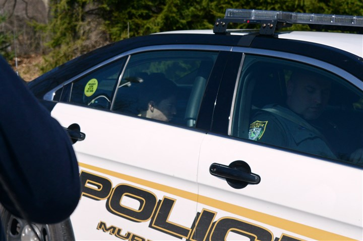 Franklin Regional stabbing, suspect in patrol car The teen suspected in the Franklin Regional stabbings is taken from the Murrysville police station Wednesday.