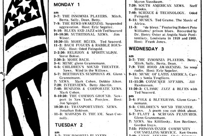 20140410WYEPprogram-1 A WYEP program guide from 1974.