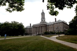 The Old Main building on the campus of Penn State University.
