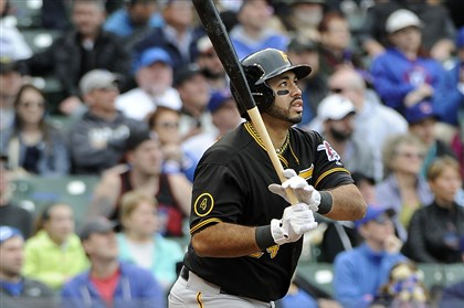 Pirates Cubs Baseball Pedro Alvarez watches his three-run home run against the Chicago Cubs during the seventh inning on Thursday. The Pirates play the Brewers at 8:10 tonight in Milwaukee.