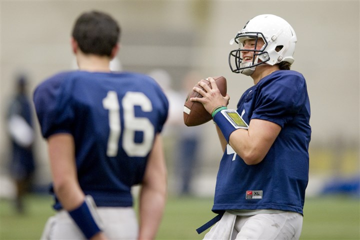 hackenberg0412 Quarterback Christian Hackenberg will help give a glimpse into the James Franklin era at Penn State in the Blue-White game today.