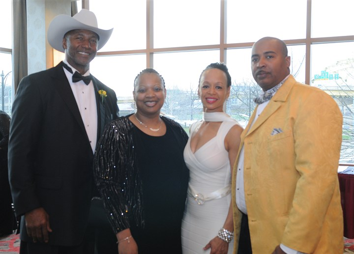 20140411CMMelBlountRoastSeen009-8 Mel Blount, Consuela Williams, Leslie Blount, and Jerry Williams.
