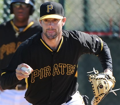 stewart0415-2 Pirates catcher Chris Stewart.