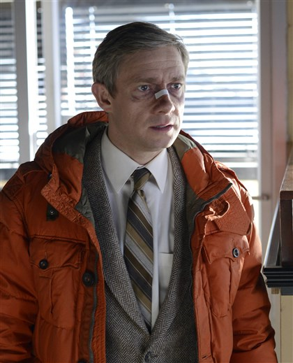 "20140415Fargo3 Martin Freeman as Lester Nygaard in ""Fargo."""