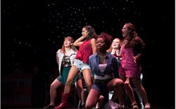 "The girls of ""Footloose"" in Pittsburgh CAPA's 2014 spring musical, from left: Kaitlyn Flanagan, Saige Smith, Elexa Hanner, Shelby Fichtner and Alexandra Illescas."