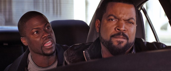 "20140417HORideAlongDVD-1 Kevin Hart and Ice Cube in ""Ride Along."""