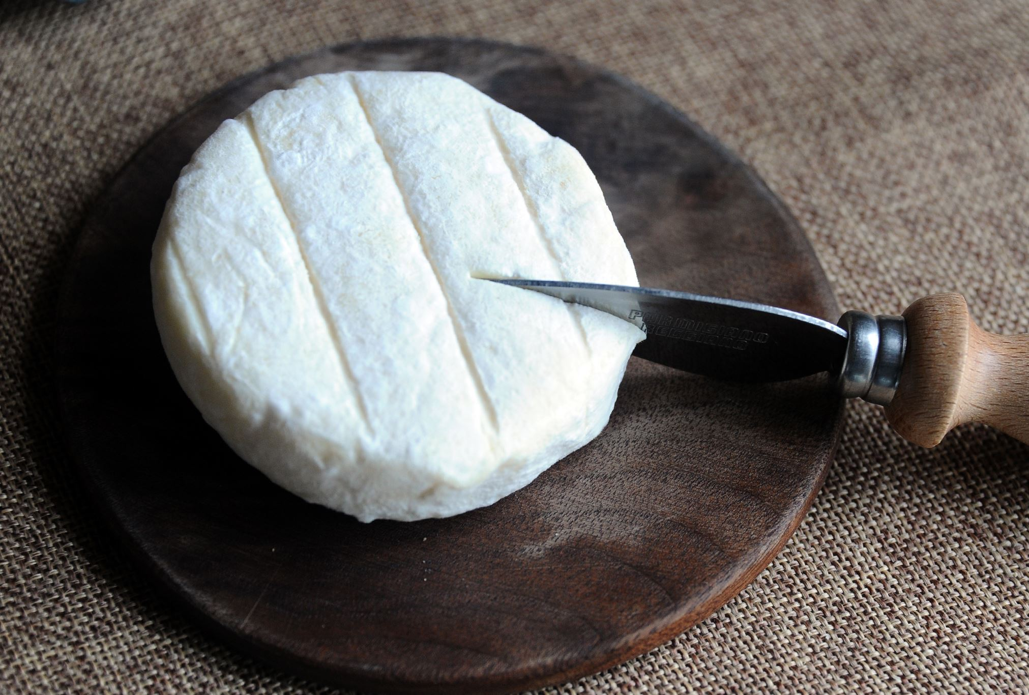 20140411CheeseMag03-2 Dragonfly, a white rind cheese made at Doe run.