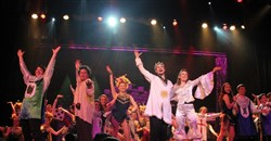 "The knights and ladies of Central Catholic High School's ""Spamalot."""
