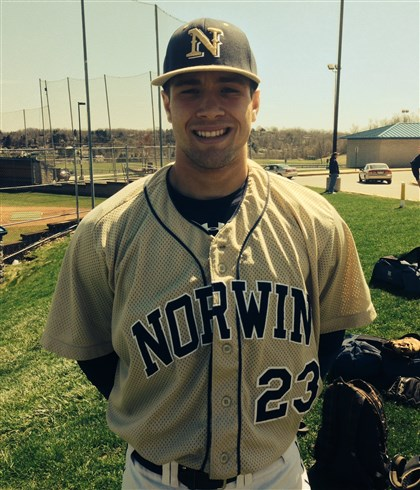 matijevic0519 J.J. Matijevic, Norwin High School baseball player, won the triple crown in the WPIAL in 2014.