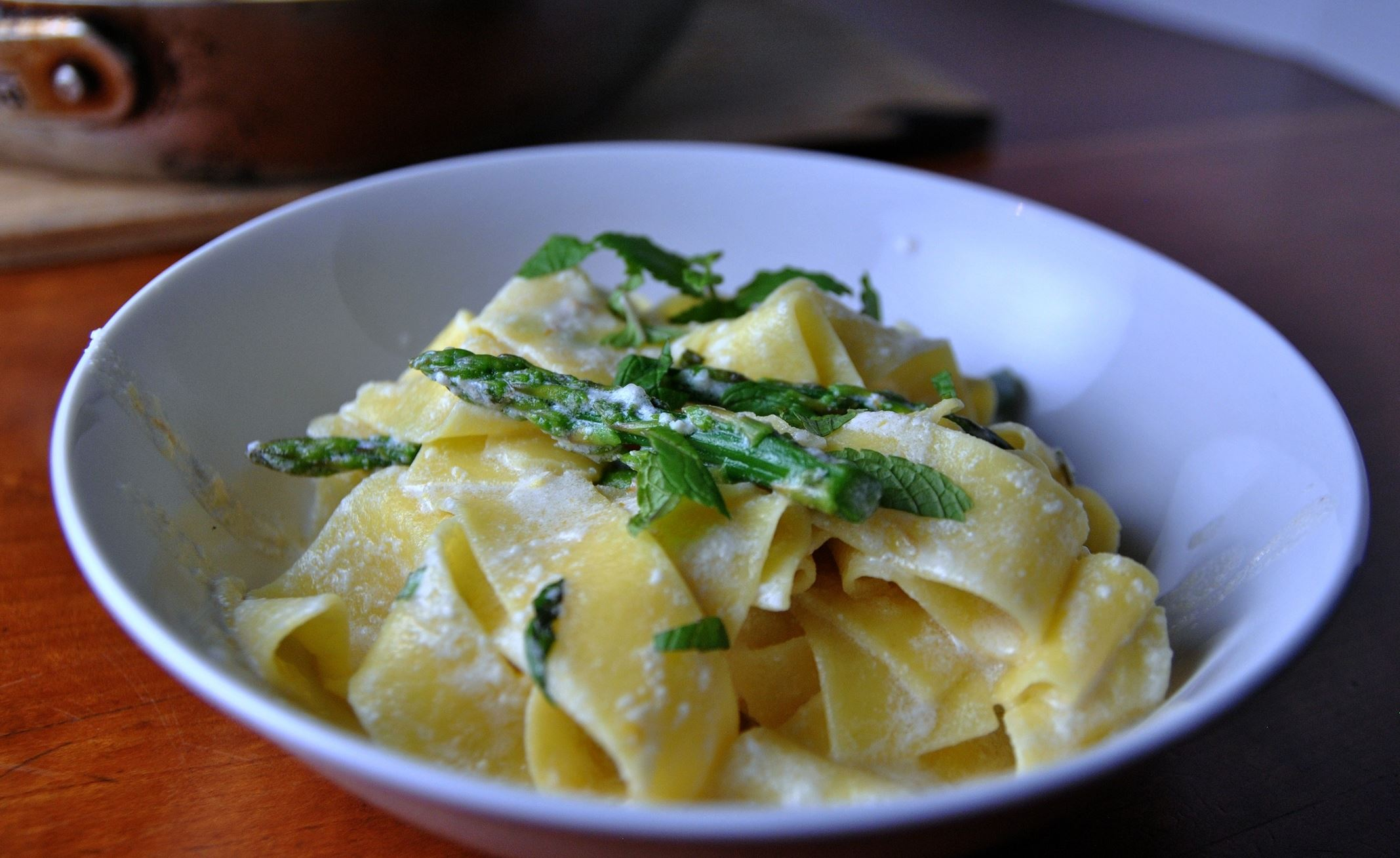 Parppardelle  Parppardelle with Fresh Lemon & Cream.