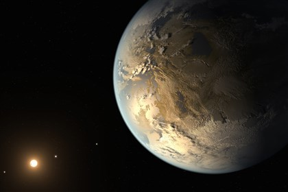 Kepler discovery An illustration showing the planet Kepler-186f, the first Earth-size alien planet discovered in the habitable zone of its star.