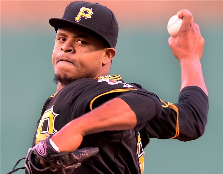20140417pdPiratesSports02-1 Pirates pitcher Edinson Volquez.