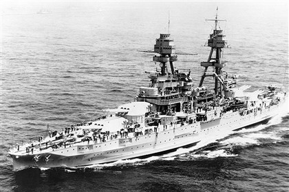 USS Pennsylvania, 1934 The USS Pennsylvania underway off New York City during the Naval Review before President Franklin D. Roosevelt, May 31, 1934.