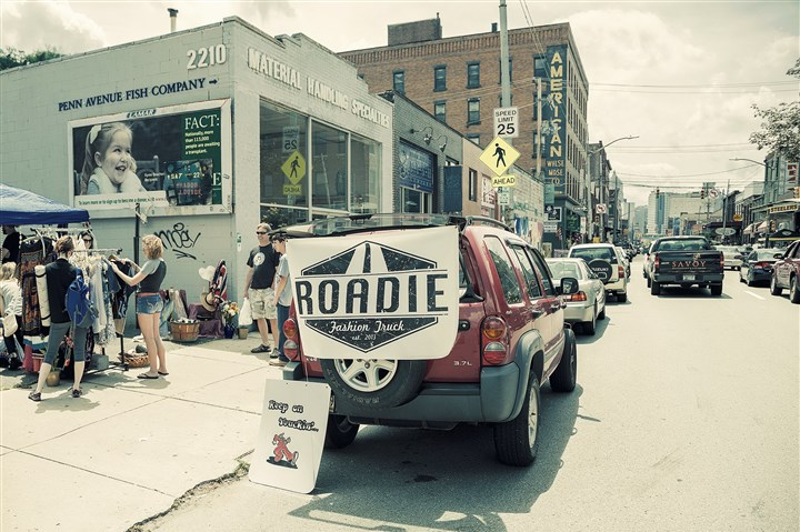 Roadie fashion truck A Roadie vehicle makes a stop in the Strip District.