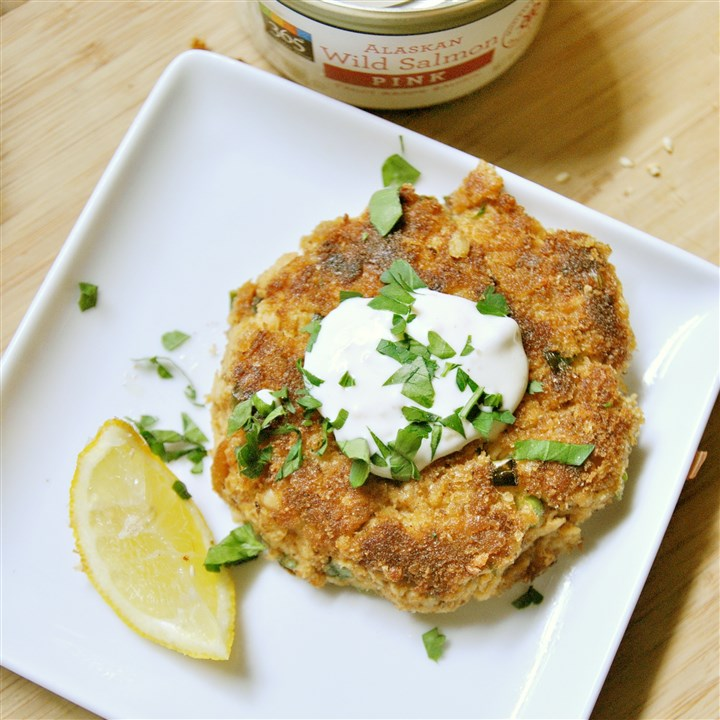 Cajun Salmon Cakes with Lemon-Garlic Aioli Cajun Salmon Cakes with Lemon-Garlic Aioli.
