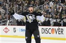 Paul Martin celebrates his assist on a playoff goal against Columbus at the Consol Energy Center in April.