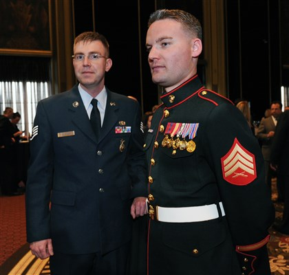 Seargents SEEN Staff Sgt. Randy Levande and Sgt. Brok Timpa.