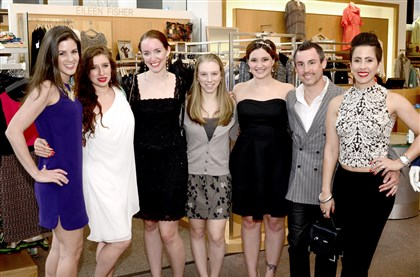 Seen En Pointe From left: Cristin Cecchini, Danielle Savka, Victoria Blackburn, Leigh Bryant, Heather Dougherty, Michael Quatrini and Megan Quatrini.