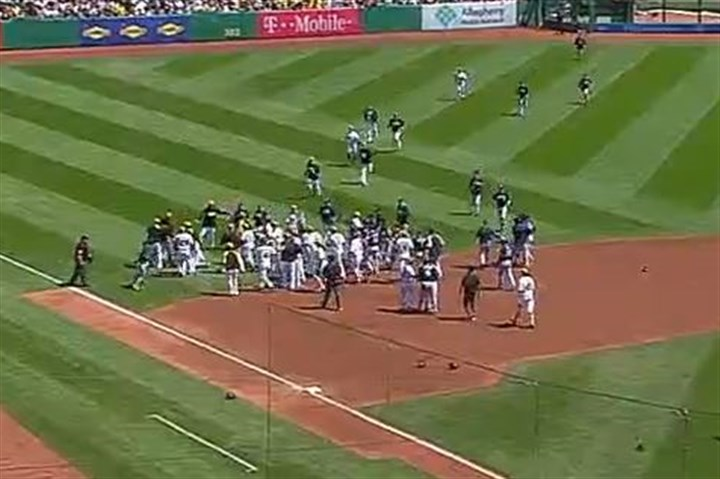 Brawl at Pirates-Brewers game The benches cleared in a brawl in the top of the third inning between the Pirates and Milwaukee Brewers at PNC Park.