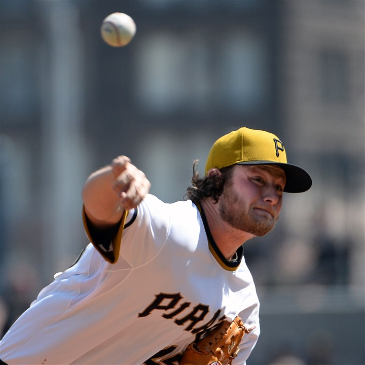 cole0608 Pirates starter Gerrit Cole spoke about his shoulder issue and downplayed the severity.