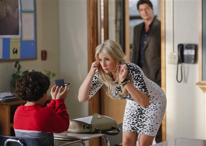 "20140424HOBadTeacher3-2 Ari Graynor and Ken Marino in ""Bad Teacher."""