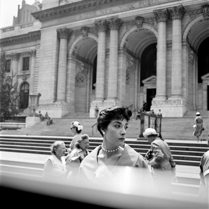 Photography by Vivian Maier Woman at the New York Public Library, from the work of Vivian Maier