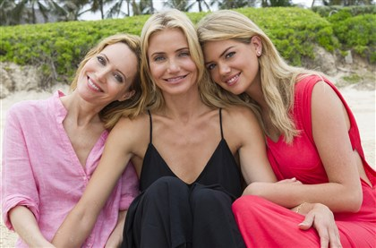 "20140425TheOtherWoman4-1 Leslie Mann, left, Cameron Diaz and Kate Upton in ""The Other Woman"