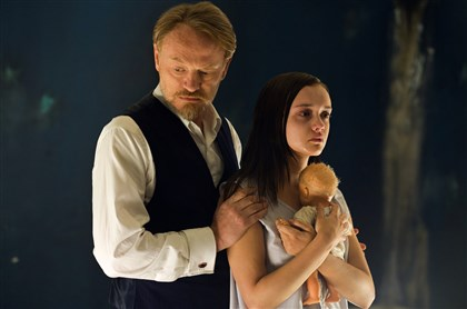 "20140425TheQuietOnes2 Jared Harris portrays a professor and Olivia Cooke is one of his experimental subjects in ""The Quiet Ones."""