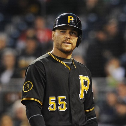 martin0428 Pirates catcher Russell Martin is sidelined with a nagging hamstring injury.