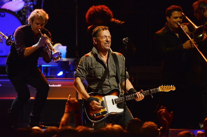 20140422bwBruceMag02-1 Bruce Springsteen and the E Street Band perform at Consol Energy Center on April 22.