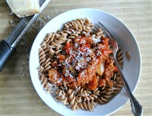 Rotini with Fire-Roasted Meat Sauce.