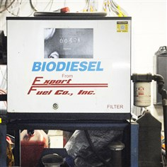 Biodiesel This biodiesel pump at Baum Blvd. Automotive is one of several sources of alternative fuels in the area. All are vying to earn market share.