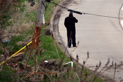 Fatal crash on Robinson Boulevard A utility pole next to Robinson Boulevard was shattered in the crash in which a woman died.
