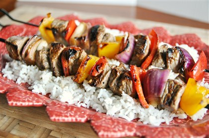 Marinated Beef and Veggie Kebabs Marinated Beef and Veggie Kebabs.