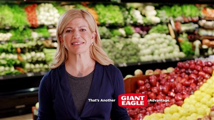 Laura Karet in a screen grab Laura Karet in a screen grab from one of Giant Eagle's recent commercials. Convinced that Giant Eagle needed to start talking about its role in the communities where the company operates and to lay claim to its status as a regional business hiring local people and keeping money in the community, she agreed last year to get in front of the camera.