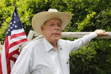 484174035 Rancher Cliven Bundy outside his ranch house west of Mesquite, Nev.
