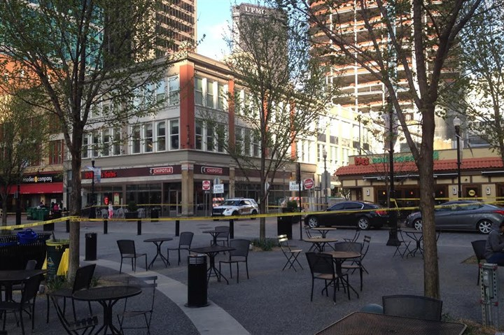 Market Square is roped off Market Square is roped off after reports of a suspicious package.