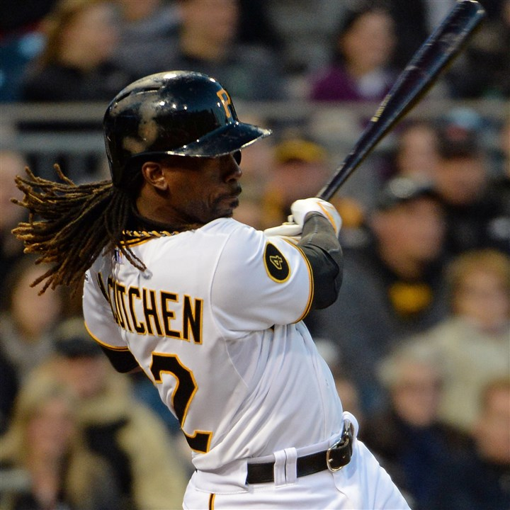 20140423mfbucssports04-1 Pirates center fielder Andrew McCutchen returned to the lineup Sunday against the Cardinals after missing action Saturday.