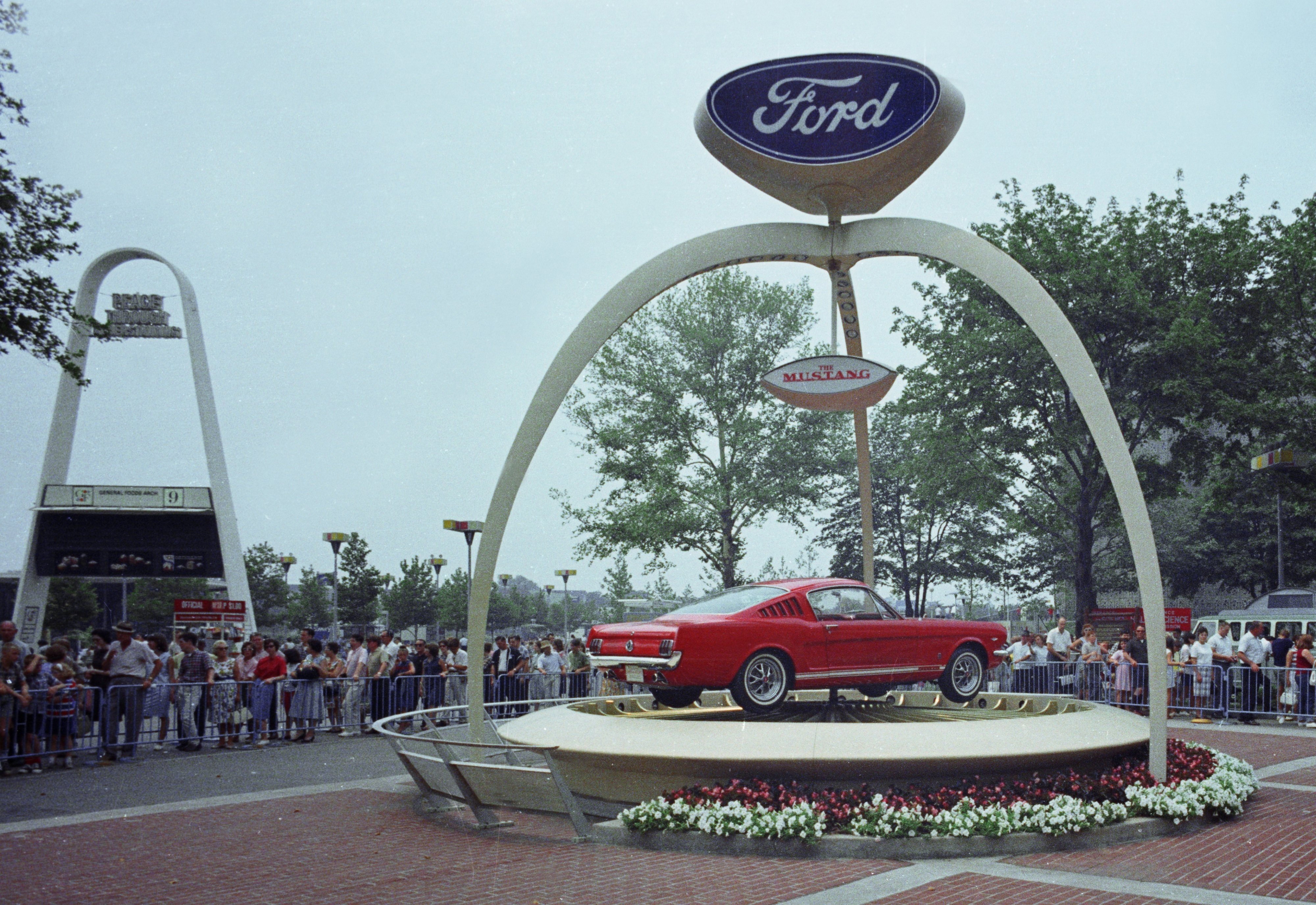 1964 World's Fair Ford Exhibit 1965 Mustang Baby boomers, who once drove sales of this Ford Mustang, remain key for car manufacturers.