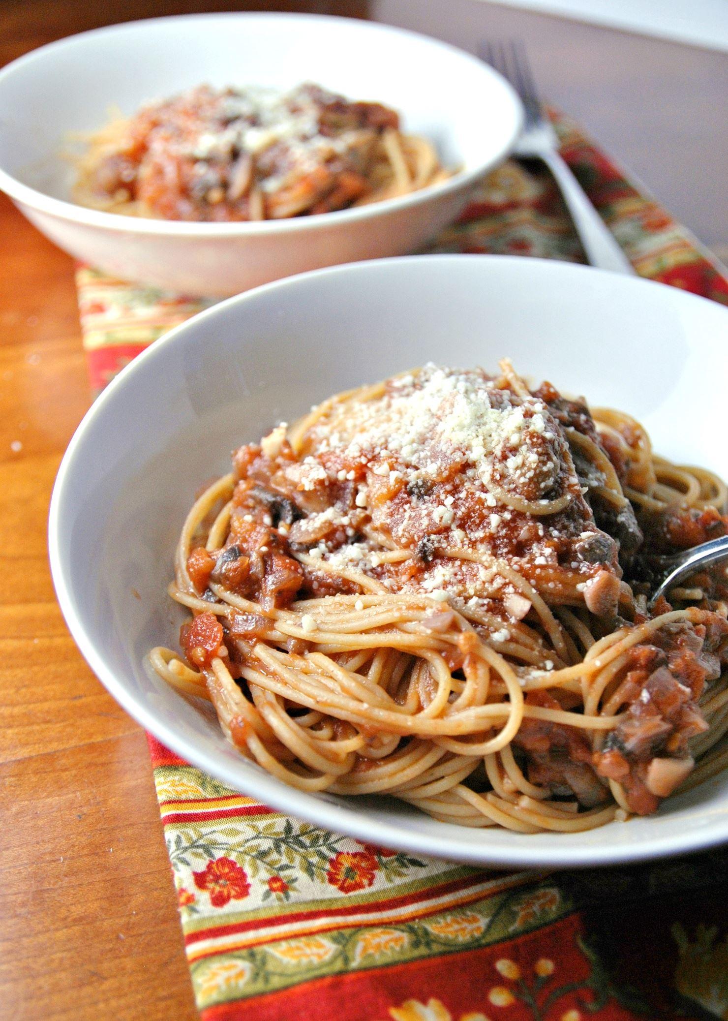 Spaghetti with Mushroom Bolognese Spaghetti with Mushroom Bolognese.