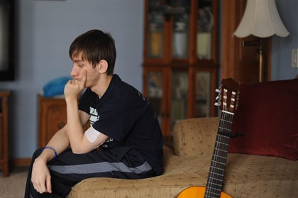 Derek Jones at home Derek Jones, one of the Franklin Regional High School stab victims, talks about his experience.