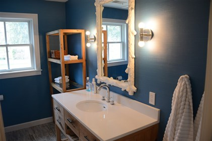 20140424lfHouseMag12-11 One of the bathrooms in the Edgeworth house that is on next week's Sewickley House Tour.