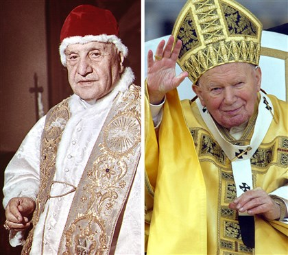 Popes John XXIII and John Paul II Popes John XXIII and John Paul II