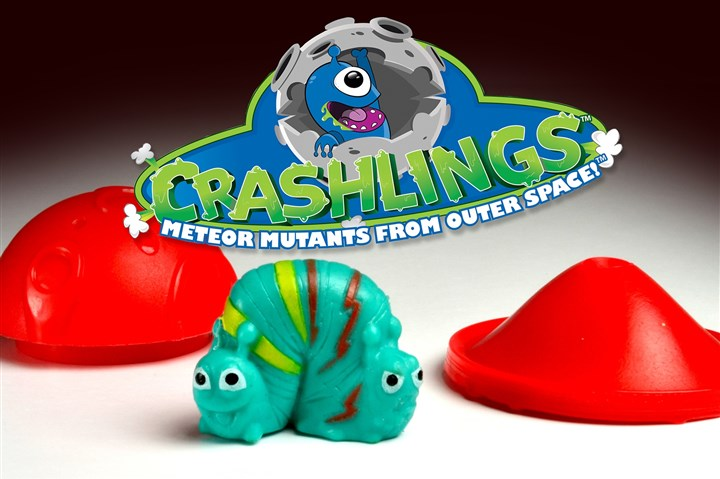 20140424hocrashlingsbiz Meteors open to reveal a mutant surprise and pop to 4 feet high. Just how much the rest of the country sees of these little aliens may depend on how closely Pittsburghers embrace the concept of the new line of Crashlings.