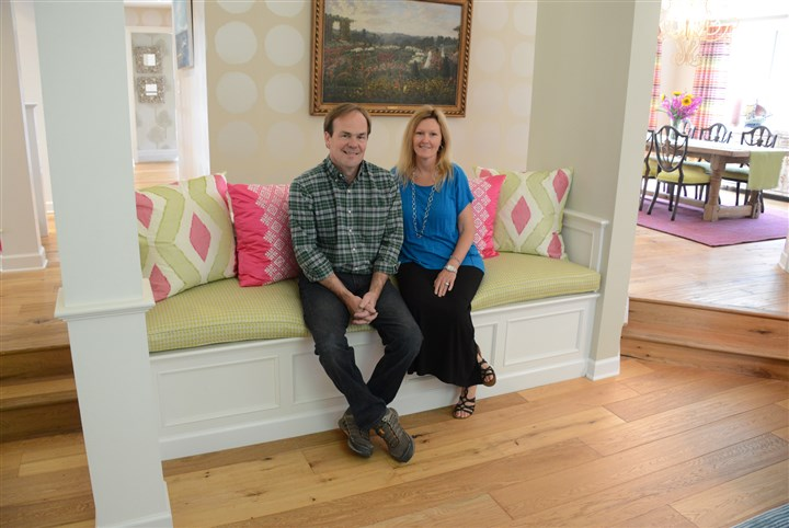 20140424lfHouseMag15-14 Ted and Jenna Stevenson will open their Edgeworth home to those on the Sewickley House Tour next weekend.