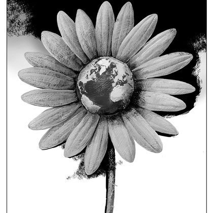 Illustration: Earth within flower