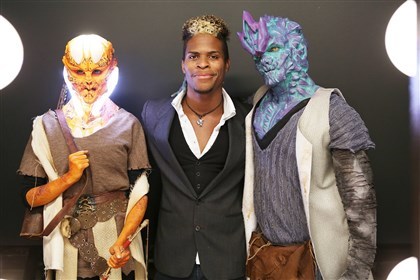 "20140425horealitycheck0426-1 Rashaad Santiago and his luminous creatures win season six of Syfy's ""Face Off."""
